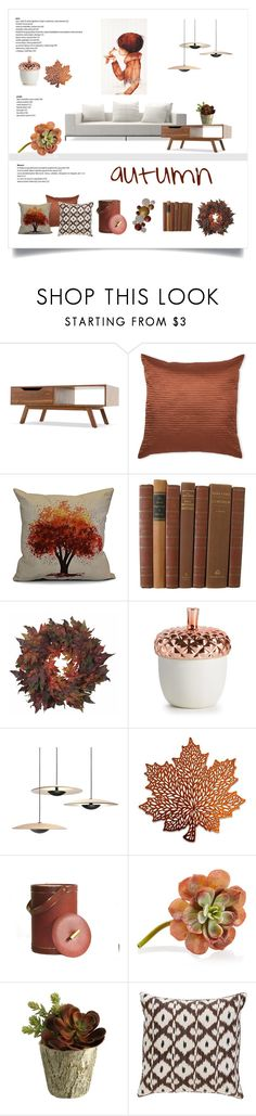 """""""autumn"""" by levai-magdolna ❤ liked on Polyvore featuring interior, interiors, interior design, home, home decor, interior decorating, Surya, e by design, Nearly Natural and Illume"""