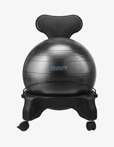 For something completely different... An exercise ball chair. Sitting on exercise balls is good for your core but many of us don't really have the strength to do it properly for long, so this chair is a half way house, train your core while you work. Definitely one for the seperate office... Reform Me, 139.99 Euros