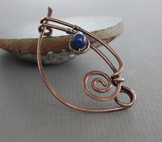 Swirly ornate shawl pin or scarf pin with wrapped by IngoDesign, $28.00