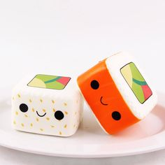 Check out these adorable sushi squishies!