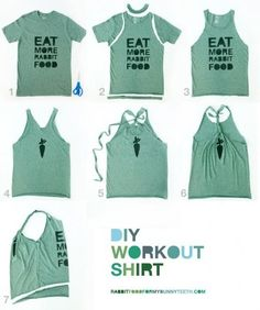 Turn an old T into a workout shirt!