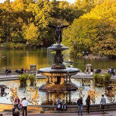 Central Park's Bethesda Fountain, NYC.