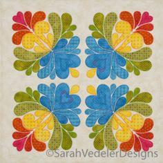 Heather Feather collection by Sarah Vedeler visit.sarahvedelerdesigns.com #Embroidered Applique #SarahVedelerDesigns