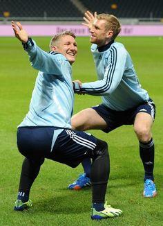 Bastian Schweinsteiger and Per Mertesacker