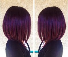 When I decide to chop my hair off ♡ - Couleur Cheveux 01 Red Bob Hair, Short Dark Hair, Violet Hair, Purple Tinted Hair, Blue Hair, Burgundy Hair, Dark Plum Hair, Hair Today, Purple Hair