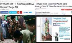 Aneh Sekolah Islam Berizin Ditolak Patung Jendral China tak Berizin Dibiarkan