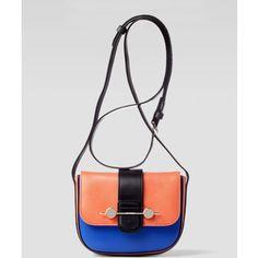 Daphne Mini Colorblock Crossbody Bag, Orange/Blue - Jason Wu