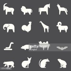 Vector file of Animal Icons - White Series