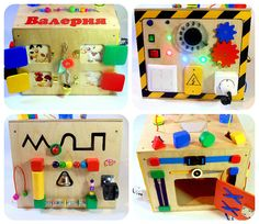 Personalized Busy Box Montessori educational Toy Busy board