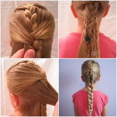 Ten quick and easy hairstyles Great ideas for your little princess! #hairstyles #hair #hairstylesideas