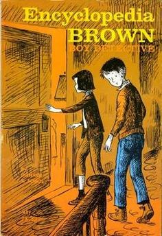 Encyclopedia Brown books. Man. This was good reading. Just started a book with the kids tonight.