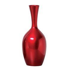 Esse Vaso em Cerâmica Decorativa de Chão na cor vermelho metálico, vai valorizar ainda mais o seu plano decorativo na função de um lindo enfeite.
