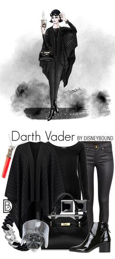 Bad never looked so good. DisneyBound's Darth Vader-inspired outfit and accompanying sketch by Matthew Simpson are real-world takes on Star Wars style.