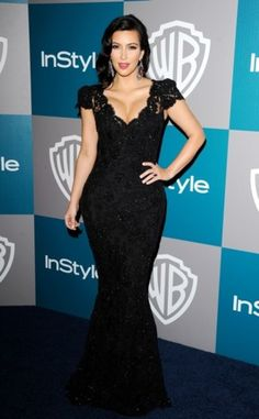 At the 2012 Golden Globes, Kim Kardashian showed off her hourglass figure