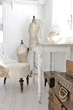 le table blanc