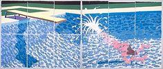 DAVID HOCKNEY: WORKS / Paper Pools, A Large Diver, 1978