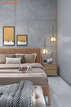 Vadodara: Technology and minimalism merge in this joint family home Bedroom Bed Design, Modern Bedroom, Hotel Bedroom Decor, Palazzo, Lounge, Hotel Interiors, Villa, Luxurious Bedrooms, Decoration