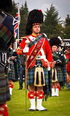 Pipe band leader at Aboyne highland games