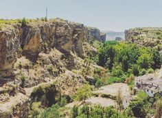 Valley close to the town Alhama de Granada in Granada Spain.