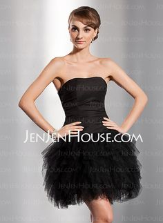 A-Line Princess Sweetheart Short Mini Taffeta Tulle Homecoming Dress With  Cascading Ruffles ccd109187