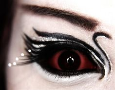 Love her version of the black swan makeup   she is just so artistic i love it