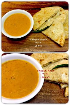 Paneer Naan with Gravy Naan, Gravy, Badge, Good Food, Dishes, Traditional, Ethnic Recipes, Indian, Home Made