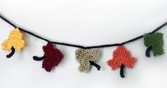 Fall Leaf Garland  PDF Crochet Pattern by rachelscrochet on Etsy. , via Etsy.