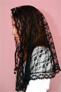 When I'm older i think i will wear a mantilla ... I love the look of the senior ladies wearing them to Sunday mass =D I hate to see this tradition die =(