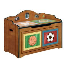 Kids Sports Toy Box  : furniture kids rooms unique kids gifts kids toy chest little sports fan