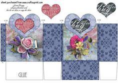 Heartshape Giftbox 107 on Craftsuprint - Add To Basket!