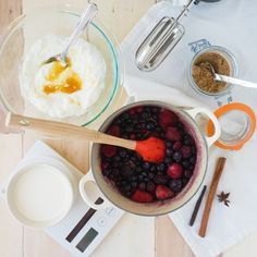 Whipped Yogurt and Spiced Berry Compote Ingredients