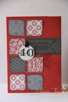 Masculine Birthday card by Miriam Thomas #stampinup