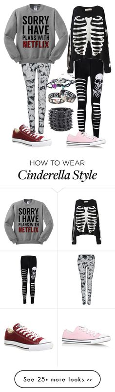 """Untitled #954"" by kellyjellybelly on Polyvore featuring Converse and Disney"