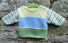 Ravelry: Stripy Baby Sweater pattern by Ruth Maddock