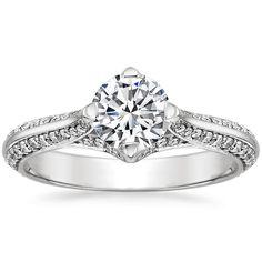 18K White Gold Calla Diamond Ring from Brilliant Earth