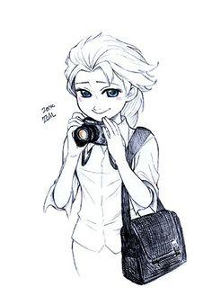 Photographer Elsa << She's so cute.