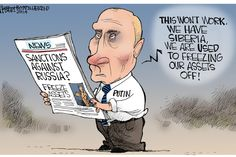 Putin is freezing his assets off! that will show him:)