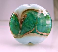 Blue Turquoise Lampwork Focal Bead SRA GLass by skyvalleybeads, $22.75