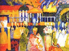 Crinolines - Kandinsky, Vasilii (Russian, 1886 - Fine Art Reproductions, Oil Painting Reproductions - Art for Sale at Galerie Dada Art Kandinsky, Wassily Kandinsky Paintings, Art History Major, Pompidou Paris, Edvard Munch, Ouvrages D'art, Painting Gallery, Oil Painting Reproductions, Russian Art