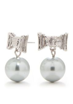 kate spade new york  All Wrapped Up Pearl Drop Earrings