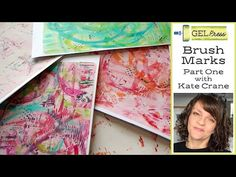 (386) Gel Press Brush Marks - part 1 - YouTube Art Journal Inspiration, Creative Inspiration, Gelli Plate Printing, Gel Press, Handmade Books, Handmade Crafts, Gelli Arts, Art Journal Techniques, Paper Crafts Origami
