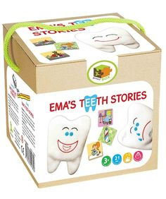 Ema's Teeth Stories. The idea is for children to develop proper skills of oral hygiene by encouraging children to create a story, develop logical thinking and observation skills.
