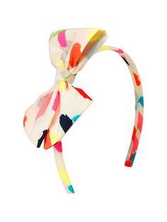 Girl's printed bow headband / Gap