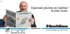 Campagna istituzionale Il Quotidiano della Calabria. Cliente: Finedit srl. Agenzia: Melaò.  Mario Palumbo