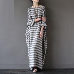 Awning Stripe Kaftan Dress