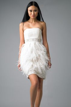 1000 images about short wedding dresses on pinterest for Short feather wedding dress