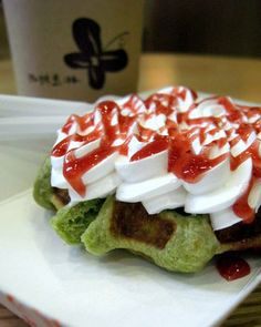 Green Tea Waffles...hmmm..I might have to try this one.