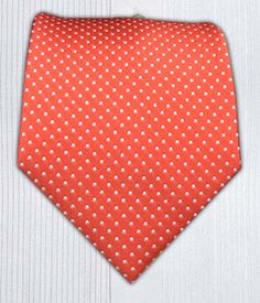 Pindot - Coral || Ties - Wear Your Good Tie. Every Day - Pindot - Coral Ties