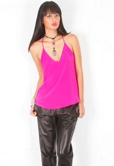 Rory Beca Cyrus Cami with Ring Detail in Vixen  $119