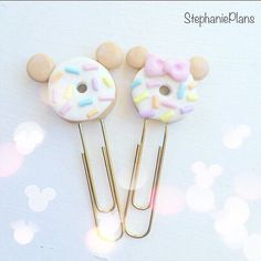 Original Mouse Donut planner clip by StephaniePlansCo on Etsy